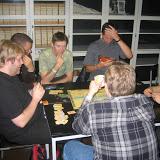 Amun-Re på Viking Con 2003 - Turneringsleder Jens Hoppe (KBK), KBK-medlemmer Sune Korremann og Rasmus Hviid (vinder af turneringen).